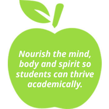 Nourish the mind, body and spirit so students can thrive academically.