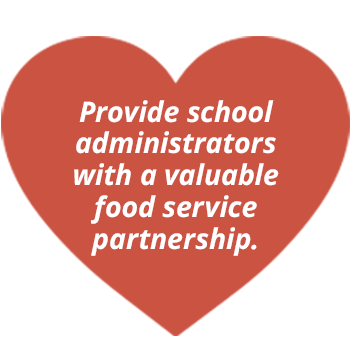 Provide school administrators with a valuable food service partnership.